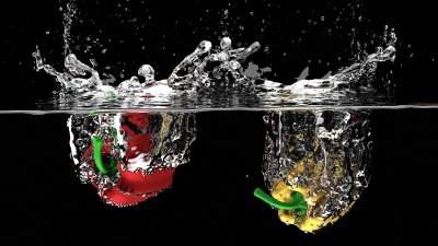 soda and vegetable washing